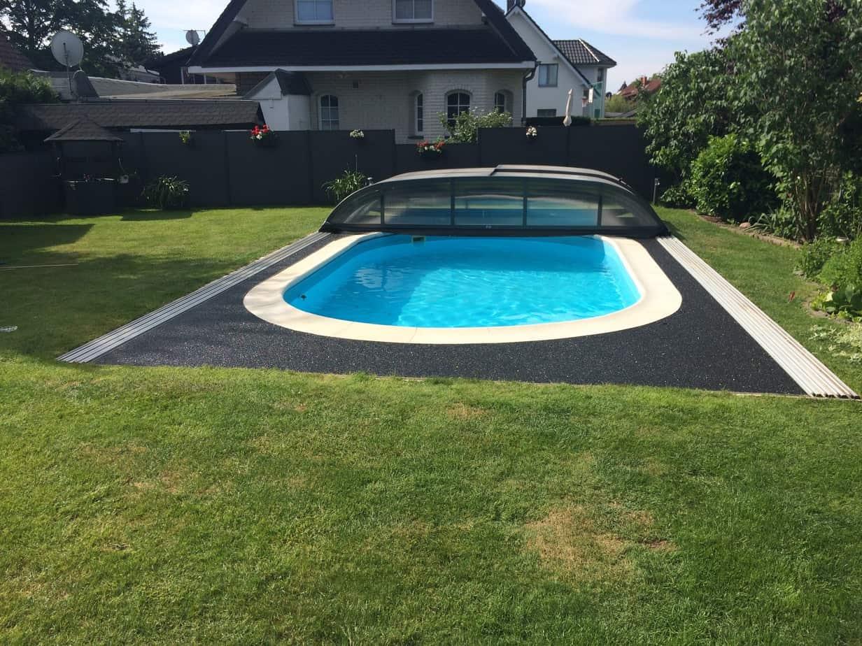 Steinteppich verlegen Swimming Pool   Handwerkerteam Ruehling