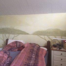 Wandmalerei – Bäume im Nebel
